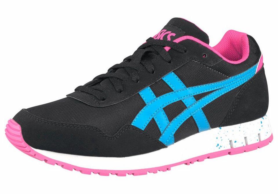 Asics Curreo Sneaker in Schwarz-Blau-Pink