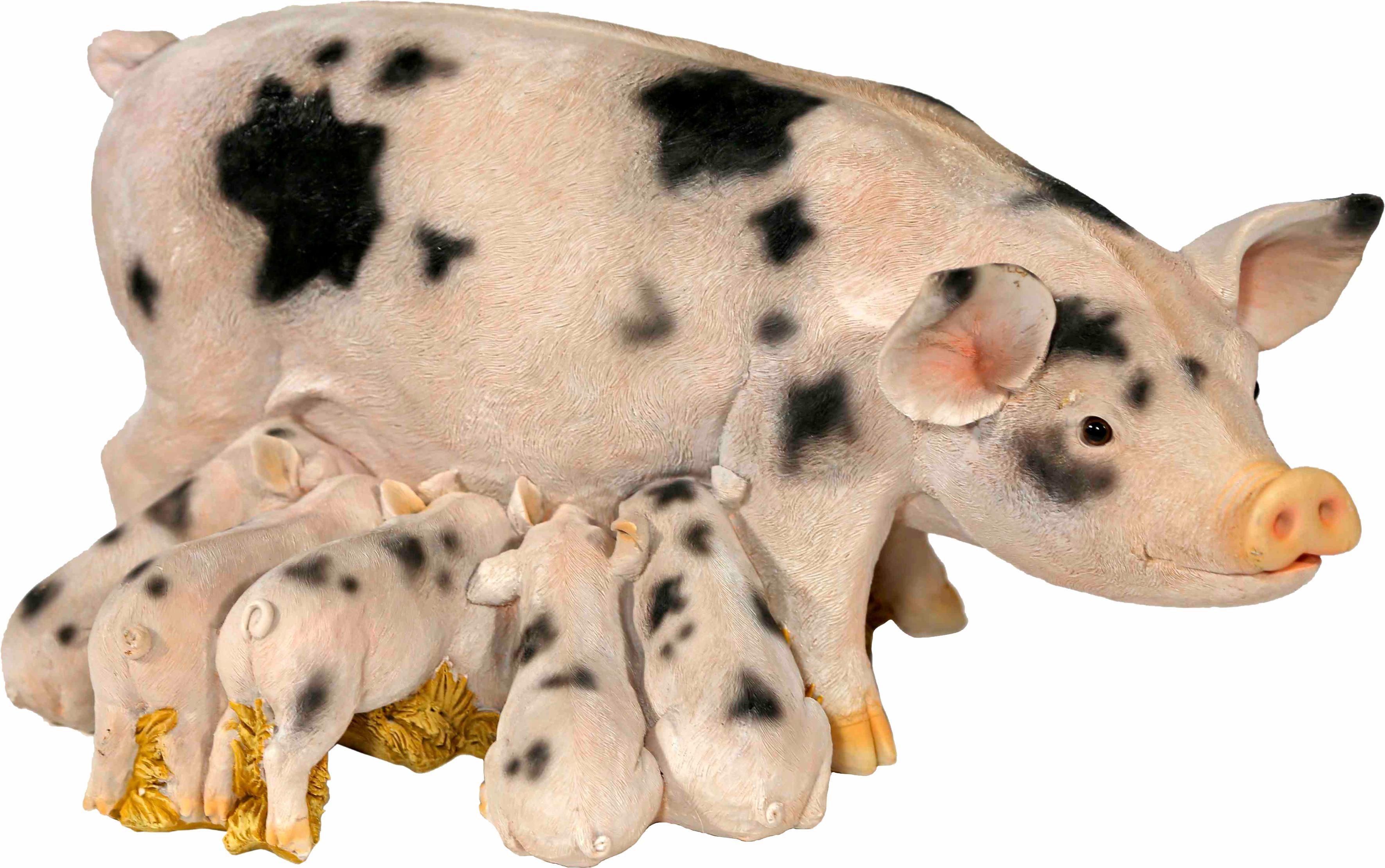 Home affaire Dekofigur »Schweine-Familie, weiß/schwarz gefleckt«