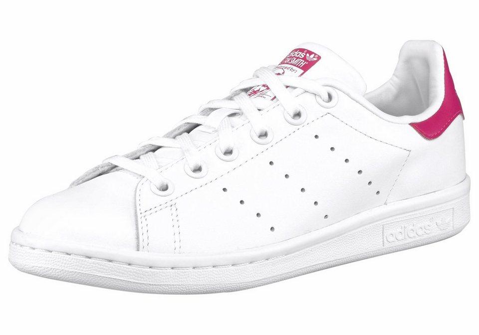 adidas Originals Stan Smith Sneaker in Weiß-Pink