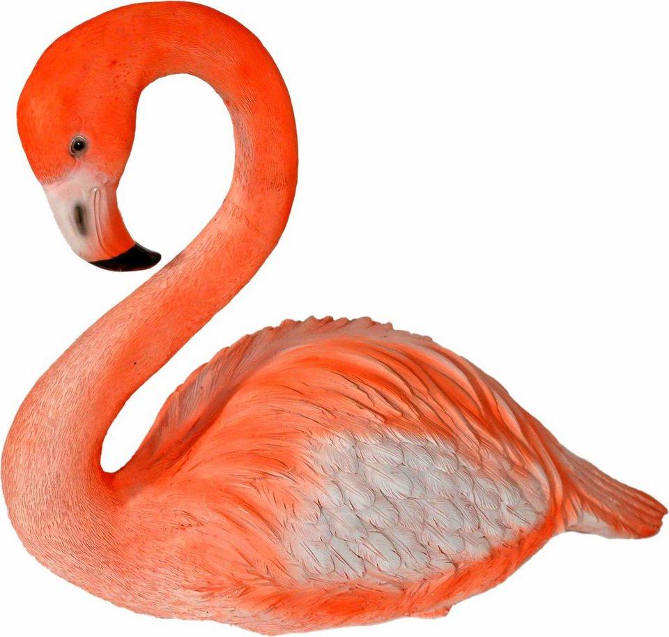 Home affaire Dekofigur »Flamingo sitzend« in rosa