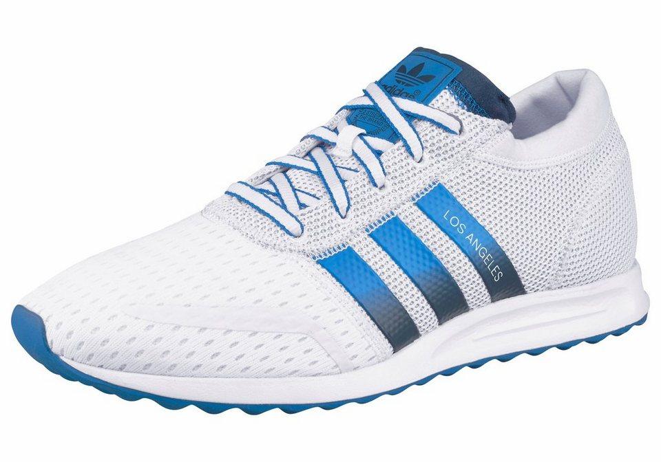 adidas Originals Los Angeles Sneaker in Weiß-Blau