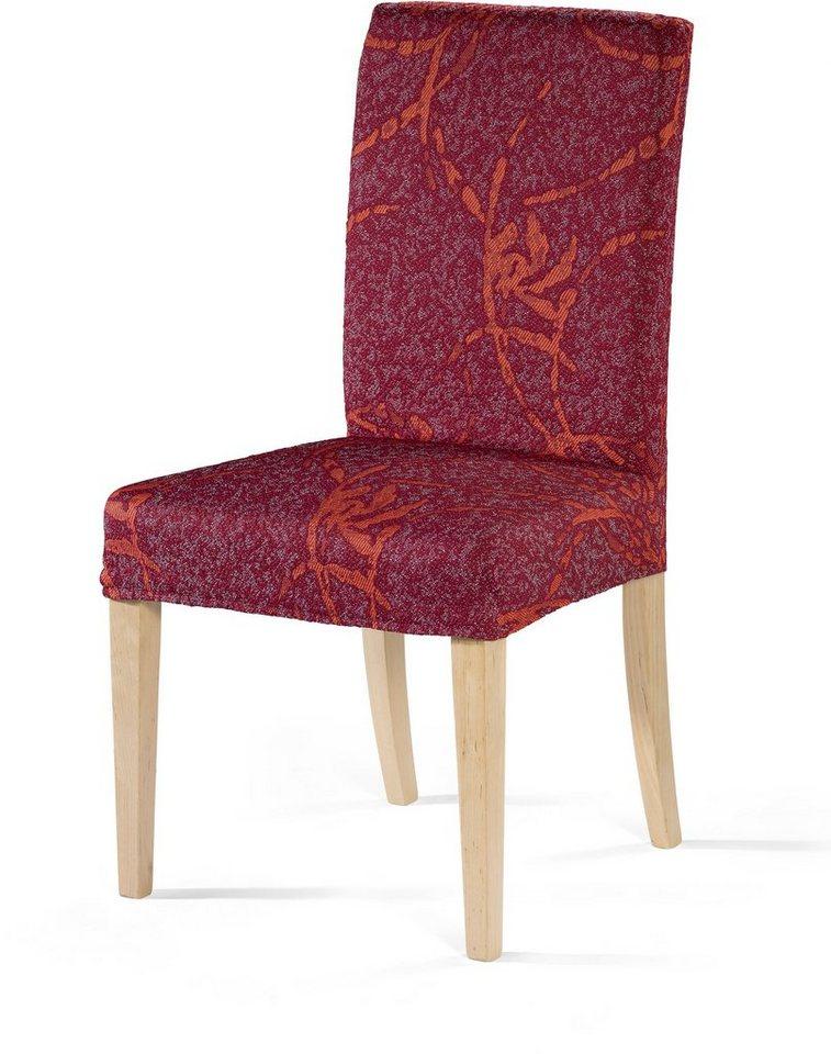 Stuhlhusse, Dohle & Menk, »Lisboa«, mit leichtem Muster in rot