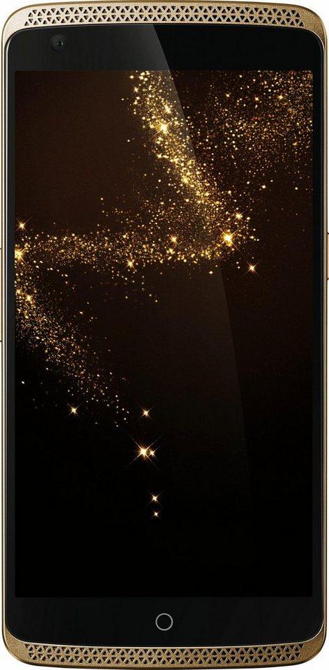 ZTE Axon Elite Smartphone, 13,9 cm (5,5 Zoll) Display, LTE (4G), Android™ 5.0.2 (Lollipop) in goldfarben