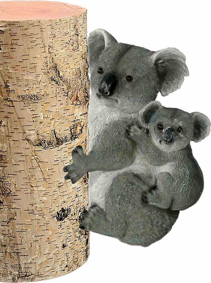 Home affaire Dekofigur »Koala mit Babykoala Baumschmuck« in grau