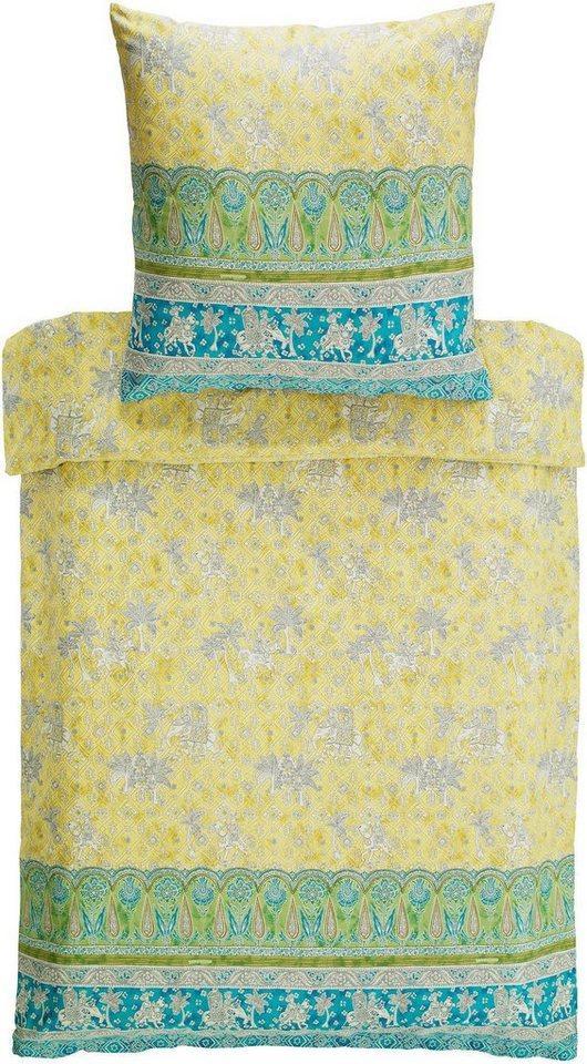 Bettwäsche, Bassetti, »Jasmine«, mit orientalischen Motiven in gelb