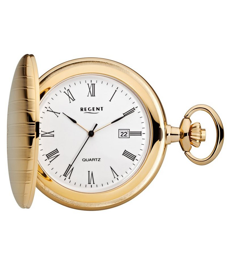 Regent Taschenuhr »11370015-P19« (Set, 2 tlg) inkl. Kette | Uhren > Taschenuhren | Goldfarben | Regent