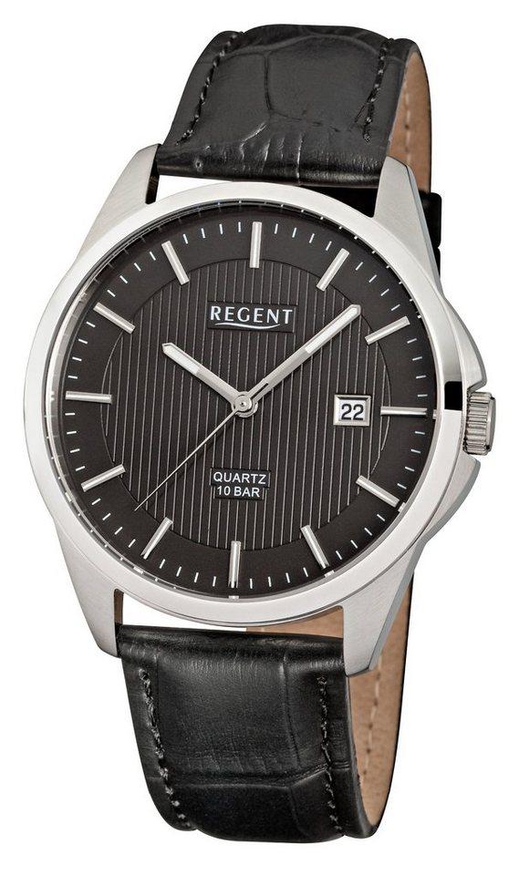 Regent Armbanduhr, »11110690 - F914« in schwarz