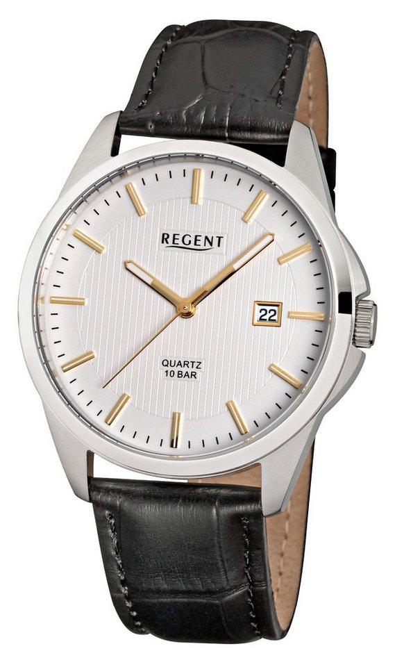 Regent Armbanduhr, »11110691 - F915« in schwarz