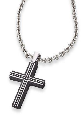 Save Brave Kette mit Anhänger, Kreuz mit Struktur, »Bjorn, SBN-BJORN«