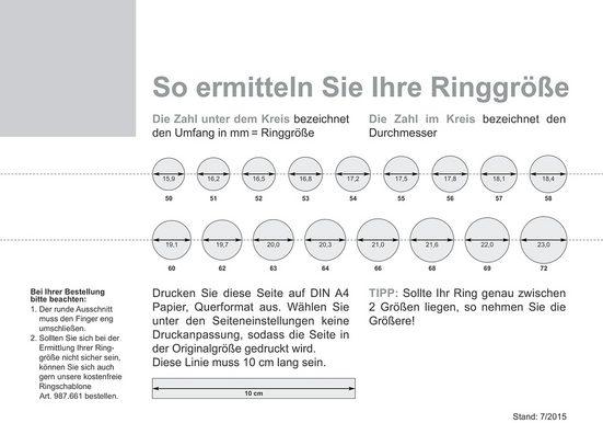 Firetti Trauring mit Gravur »glänzend  längs gebürstet  Diamantschnitt  in mehreren Breiten erhältlich  Gelbgold«  Made in Germany  wahlweise mit oder ohne Brillant
