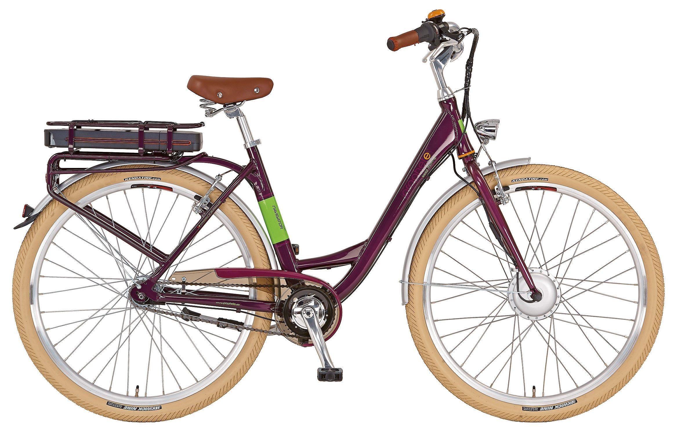 Prophete Damen City E-Bike, 28 Zoll, 7 Gg Shimano, inkl. Smartphone Tasche, »Navigator Flair«