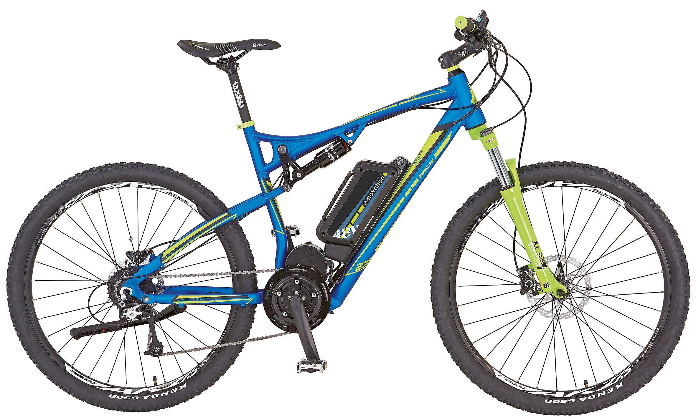 Rex Herren Fully MTB E-Bike, 27,5 Zoll, 9 Gg Shimano, Mittelmotor, »Rex Bergsteiger 6.9«