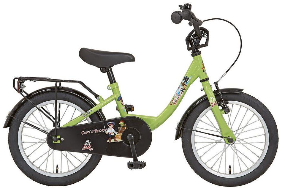 Prophete Kinderrad, 16 Zoll, 1 Gang, Rücktritt, grün, »Einsteiger« in grün