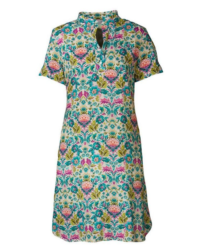 Brigitte von Schönfels Kleid in Grün/Hibiskus