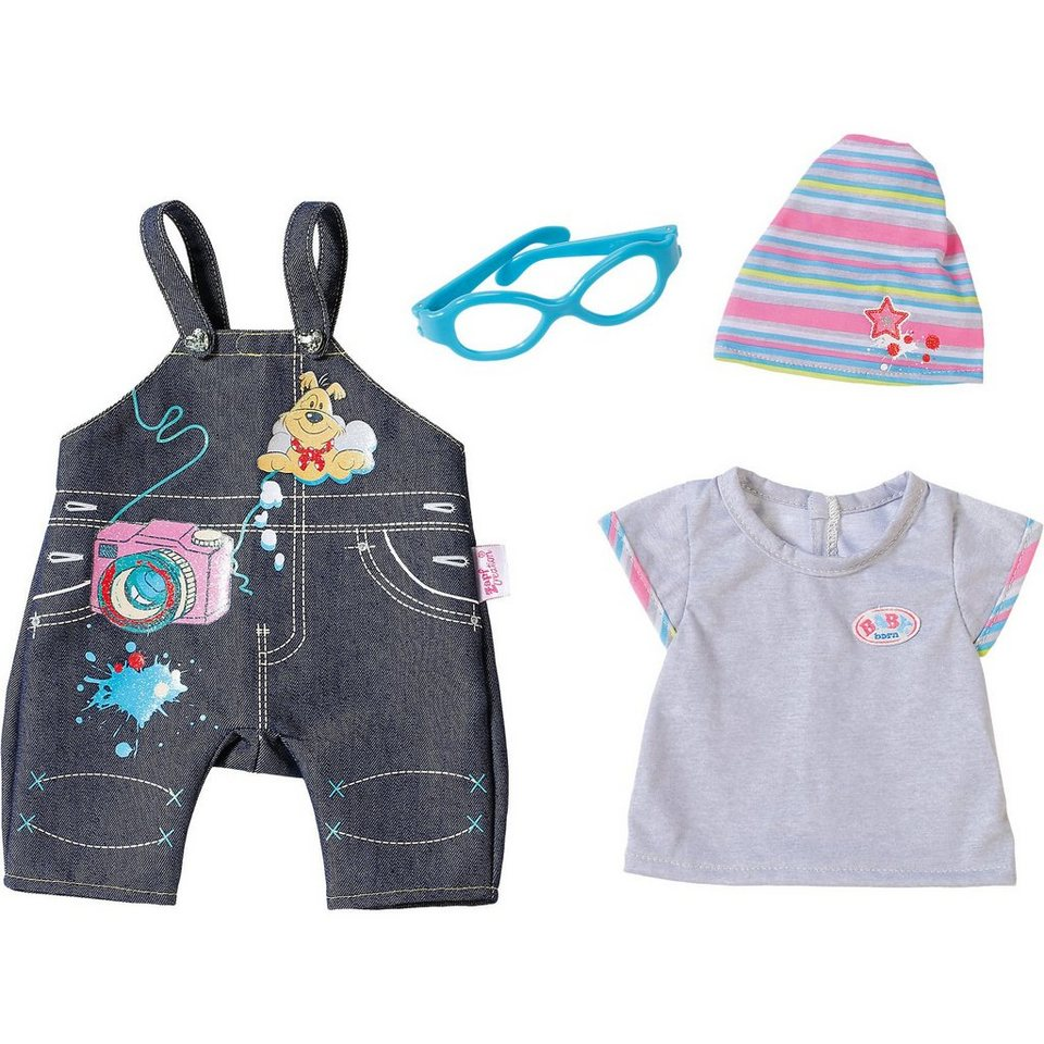 Zapf Creation BABY born® Puppenkleidung Jeans Kollektion Latzhose Deluxe,