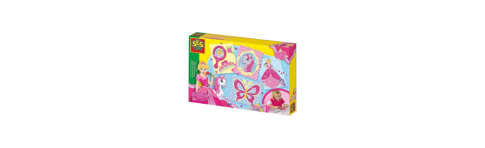 SES Creative Lernkreativset Glitter Dreams Ich lerne Mosaik
