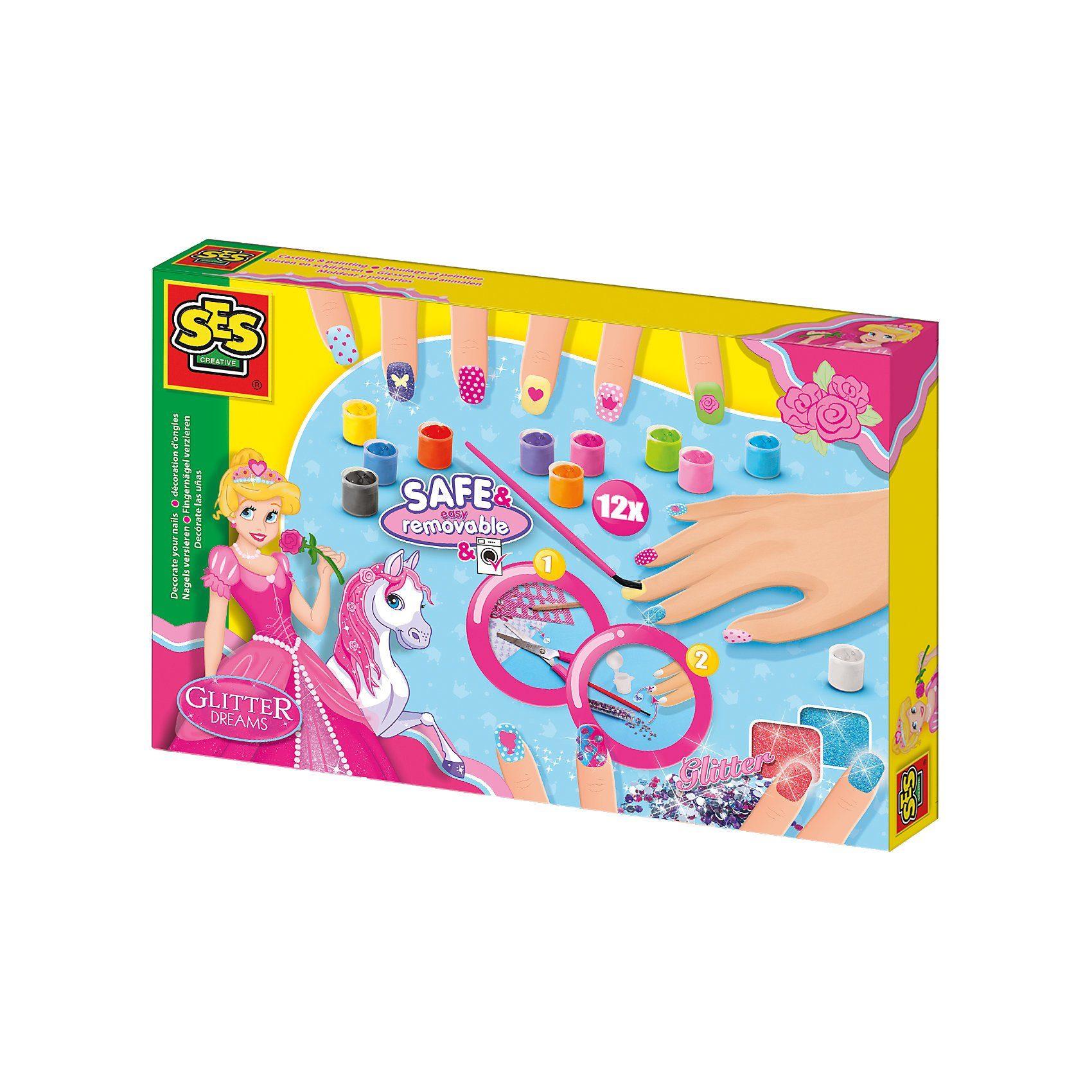 SES Creative Kreativset Glitter Dreams Fingernägeldesigner