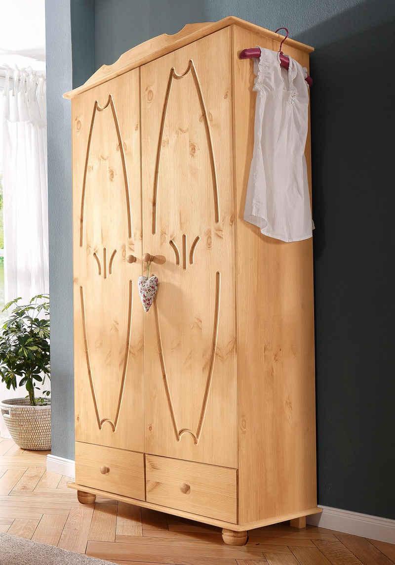 Home affaire Kleiderschrank »Melody« aus massiver Kiefer
