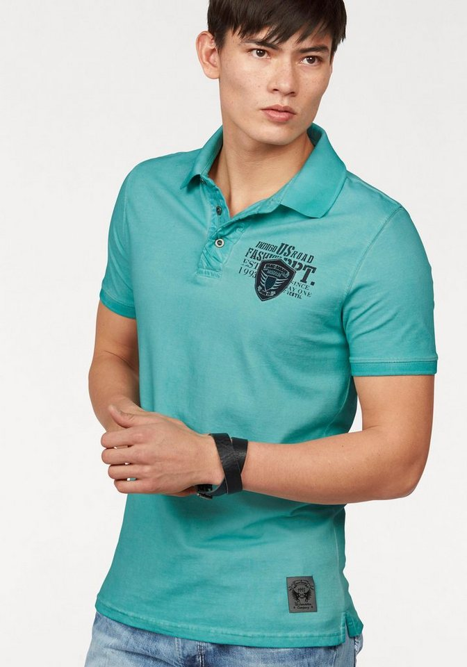 Bruno Banani Poloshirt Piqué Qualität in türkis
