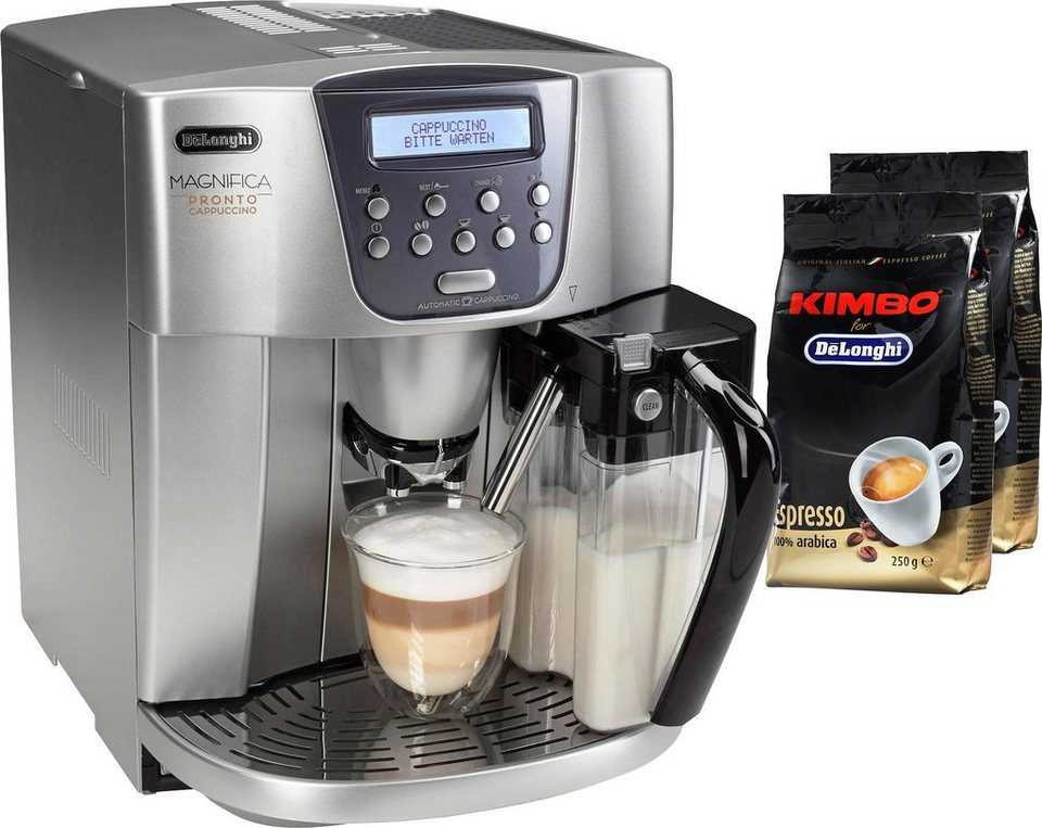 de 39 longhi kaffeevollautomat magnifica esam 4500 integrierter milchtank 15 bar silber online. Black Bedroom Furniture Sets. Home Design Ideas