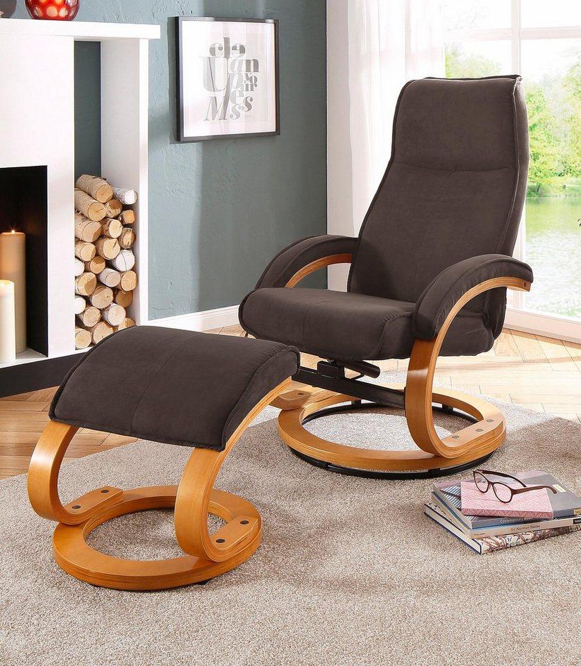 Home affaire Relaxsessel & Hocker »Paris« in braun