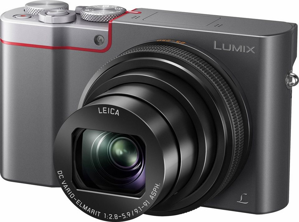 Lumix Panasonic DMC-TZ101 Super Zoom Kamera, 20,1 Megapixel, 10x opt. Zoom, 7,5 cm (3 Zoll) Display in silberfarben