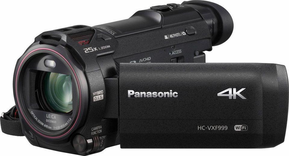 Lumix Panasonic HC-VXF999EG-K 4K (Ultra-HD) Camcorder, Videoleuchte, WLAN in schwarz