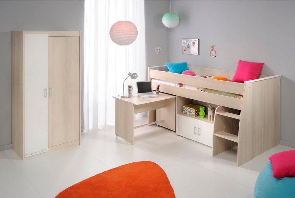 Parisot Jugendzimmer-Set »Charly« (2-tlg.) in akaziefarben/weiß