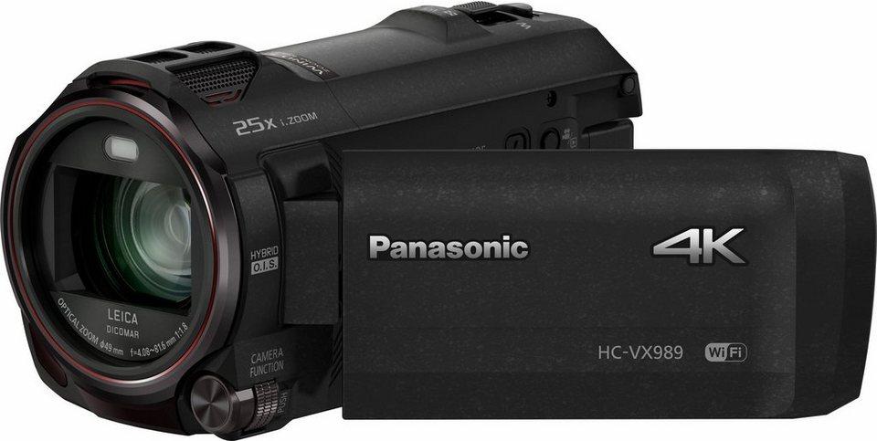 Lumix Panasonic HC-VX989EG-K 4K (Ultra-HD) Camcorder, Videoleuchte, WLAN in schwarz