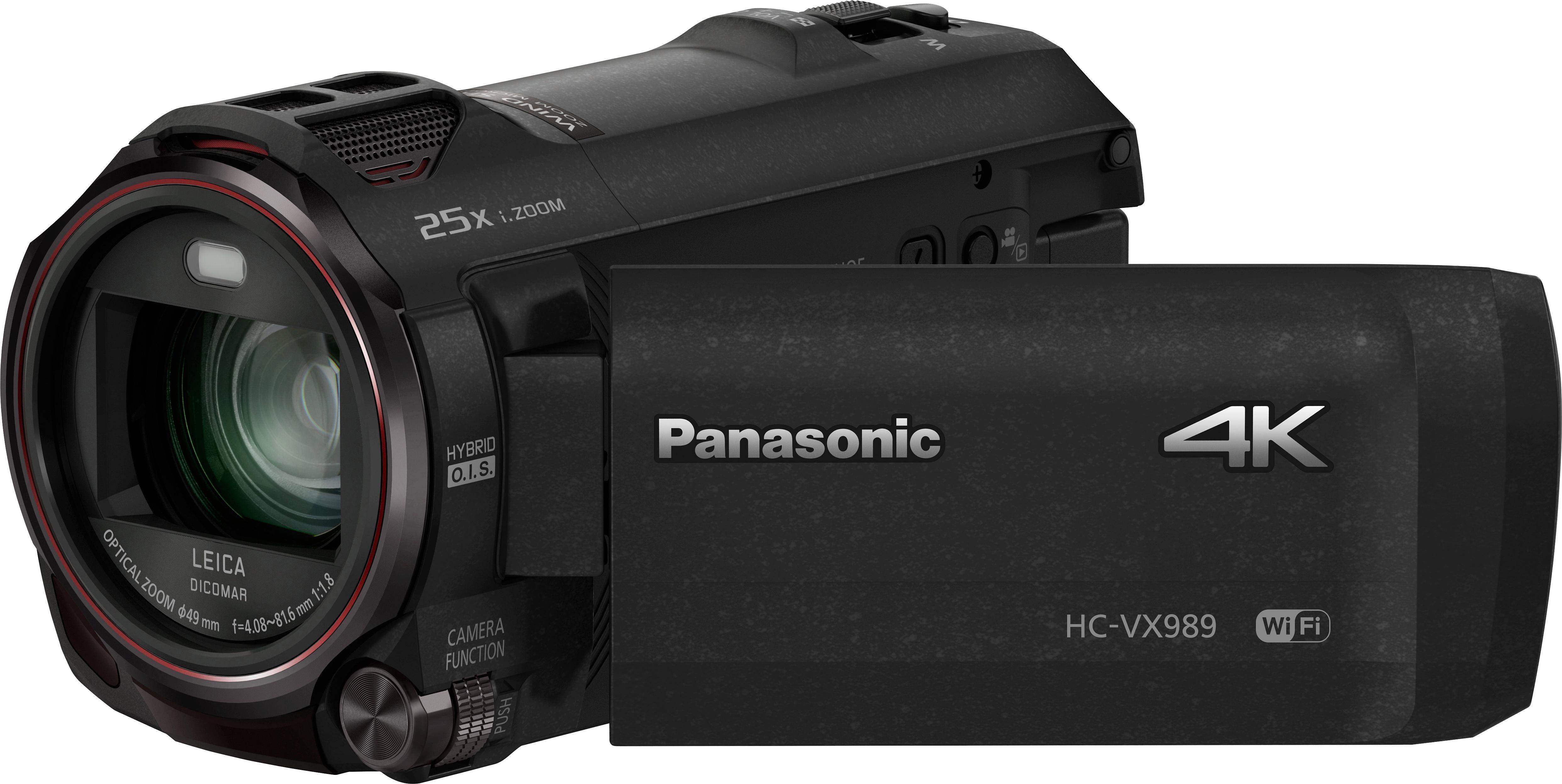 Lumix Panasonic HC-VX989EG-K 4K (Ultra-HD) Camcorder, Videoleuchte, WLAN