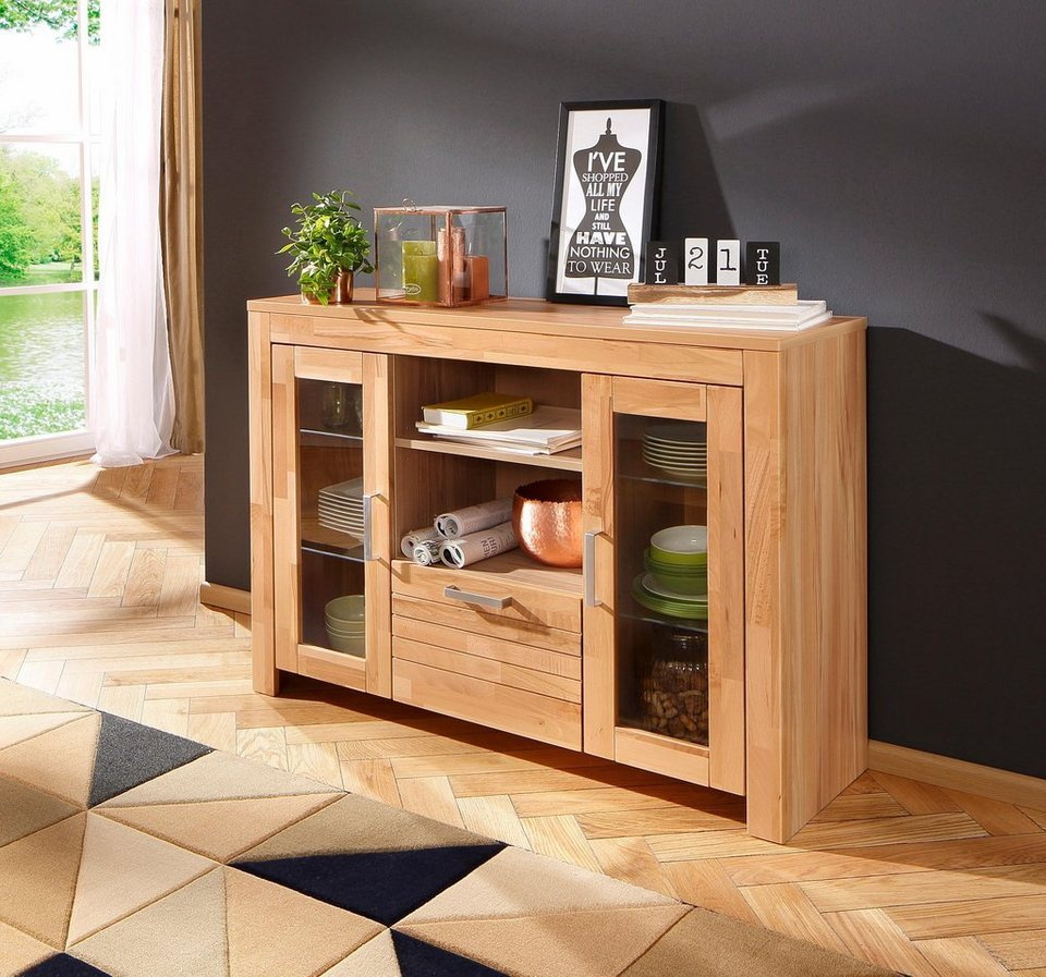 Home affaire Sideboard »Livigno«, Breite 129 cm. in kernbuche