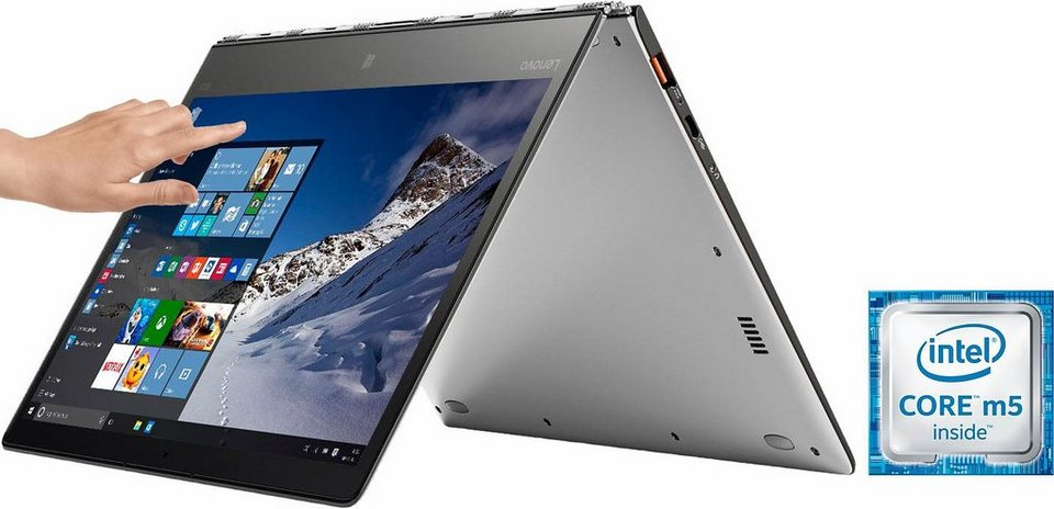 Lenovo YOGA 900S-12ISK Convertible Notebook, Intel® Core™ m5, 31,7 cm (12,5 Zoll), 128 GB Speicher in silberfarben