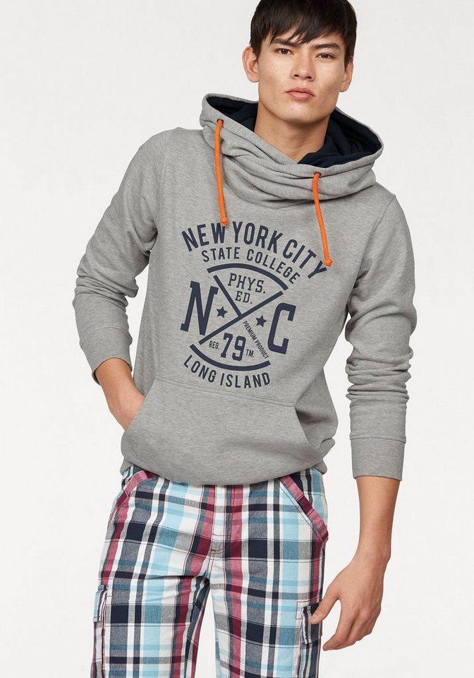 John Devin Kapuzensweatshirt in grau-meliert