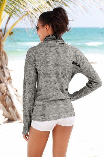 Bench. Sweatshirt mit Schalkragen