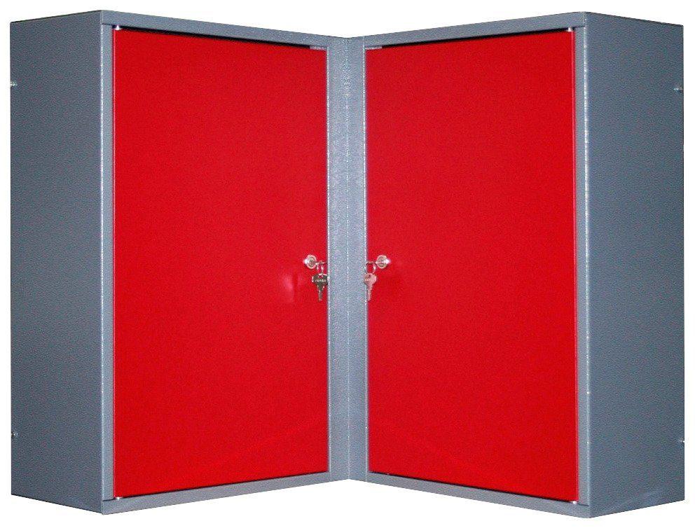 Küpper Eck-Hängeschrank »2 Türen, 4 Einlegeböden, in rot«