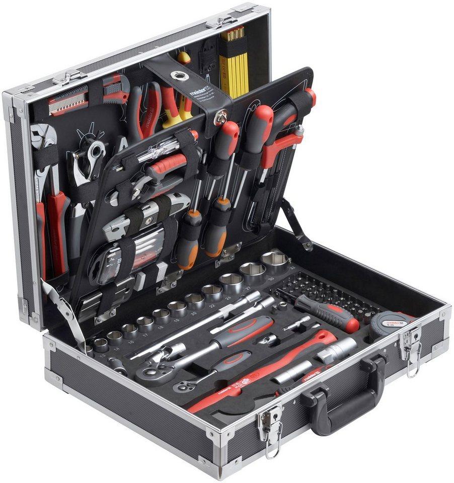 Meister Werkzeugkoffer »129-tlg.« in grau