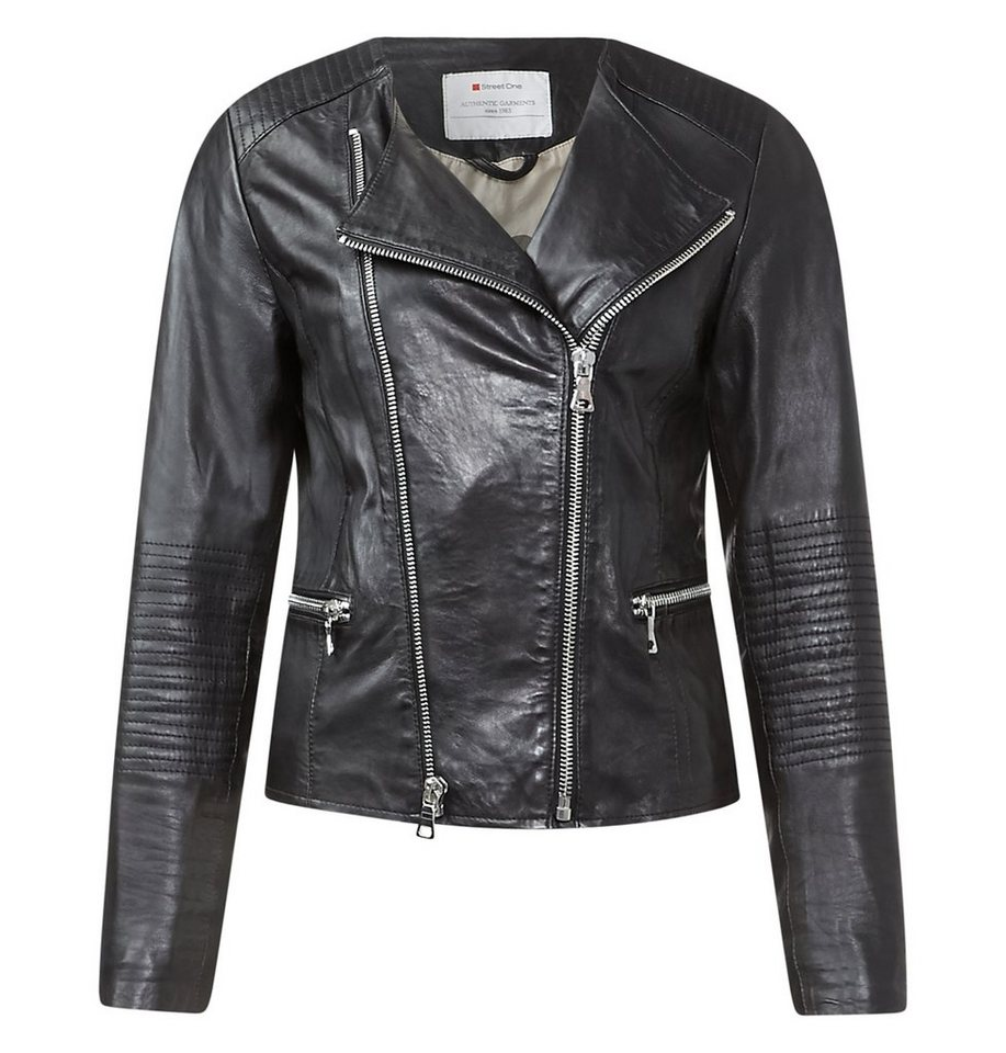 Street One Bikerstyle-Lederjacke Ada in Black