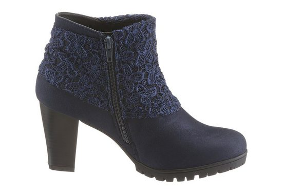Citywalk Ankle Boot, With Fashionable Lace And Braid