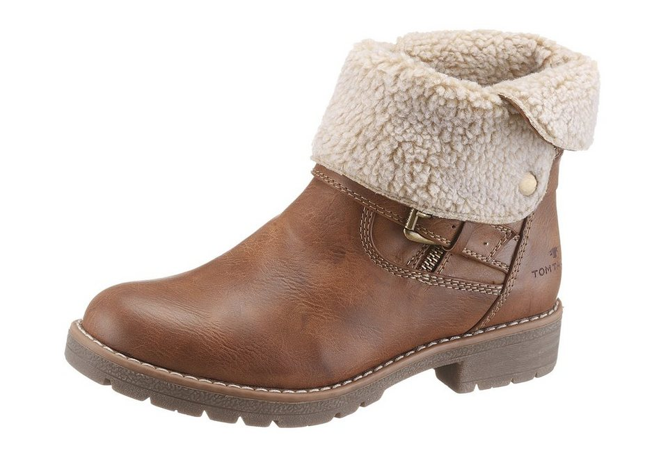 Tom Tailor Winterboots in cognac