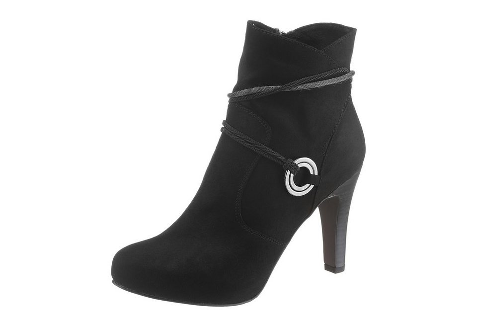 Tamaris High-Heel-Stiefelette in schwarz