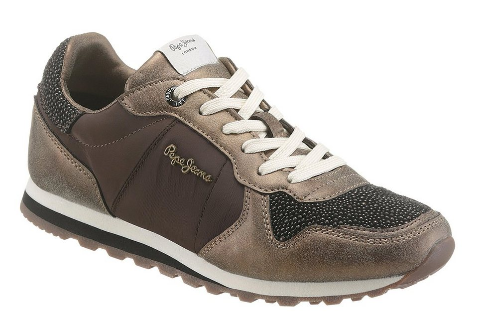 Pepe Jeans Sneaker in braun-taupe