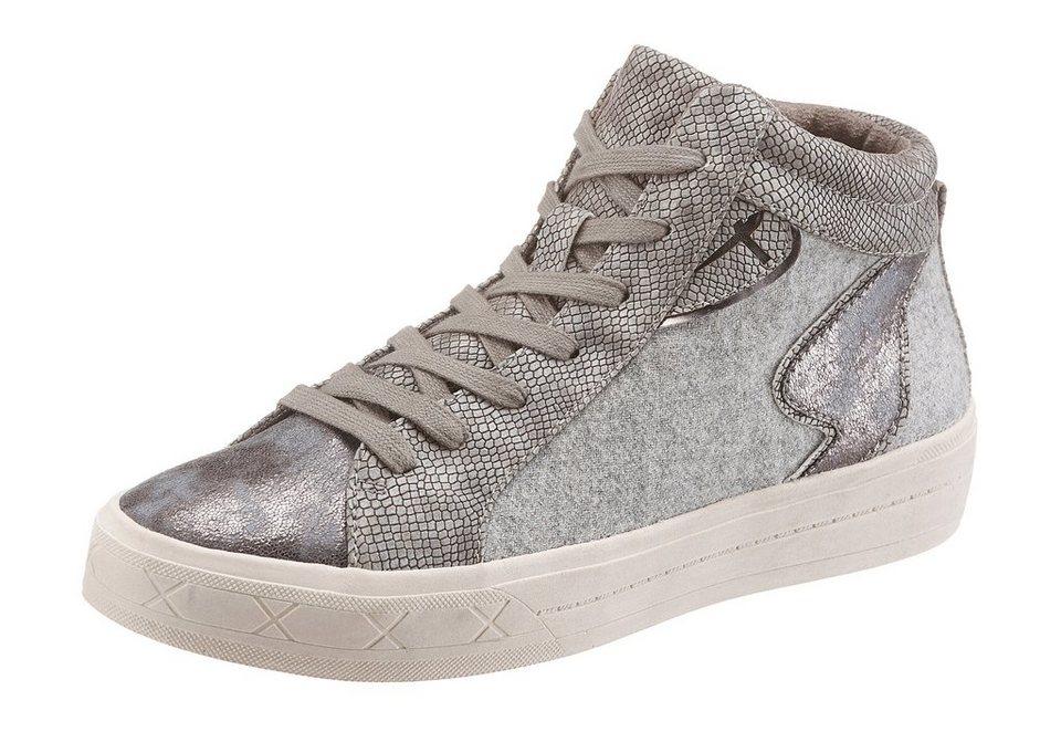 Tamaris Sneaker in taupe-glänzend
