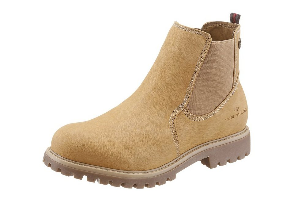 Tom Tailor Chelseaboots in camelfarben