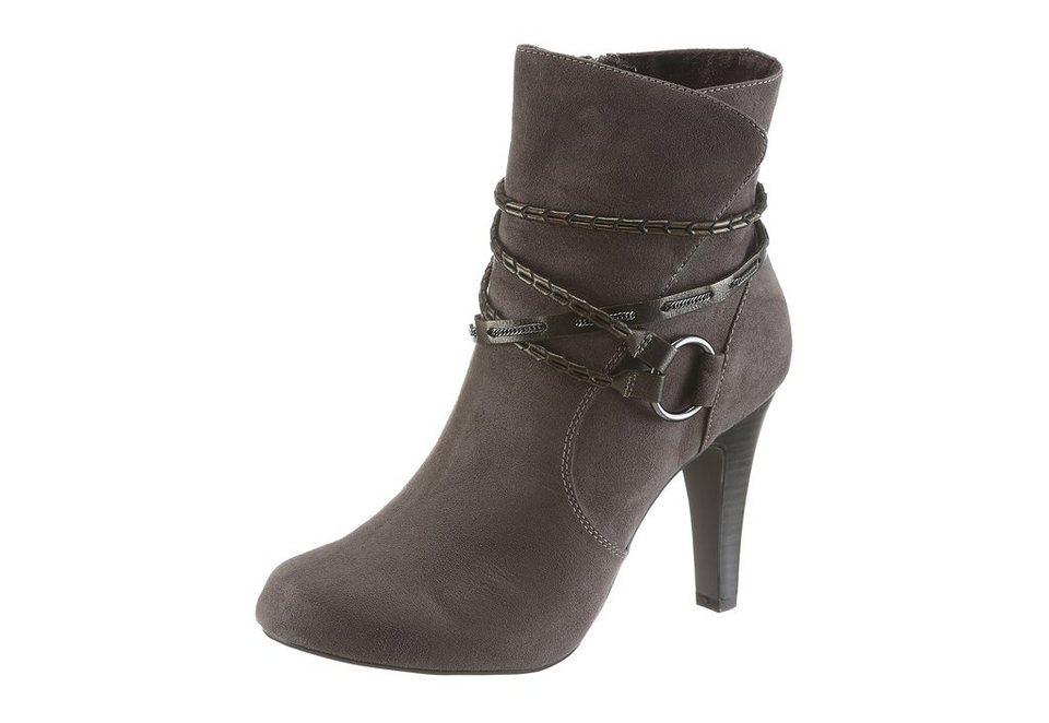 Tamaris High Heel Stiefelette in taupe