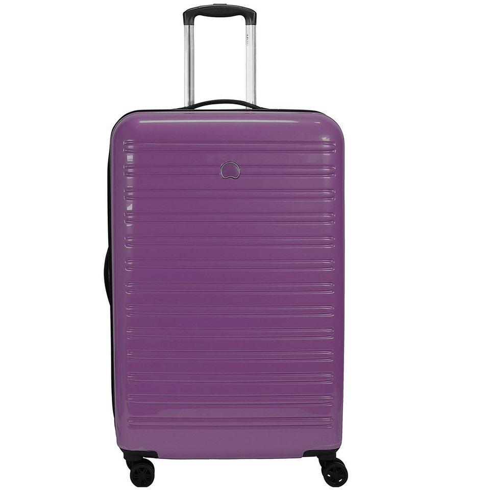 Delsey Segur 4-Rollen Trolley 70 cm in purple