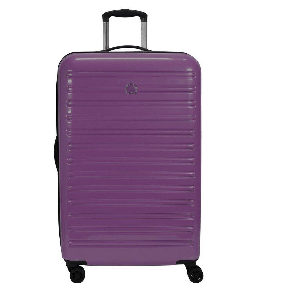 Delsey Segur 4-Rollen Trolley 78 cm in purple