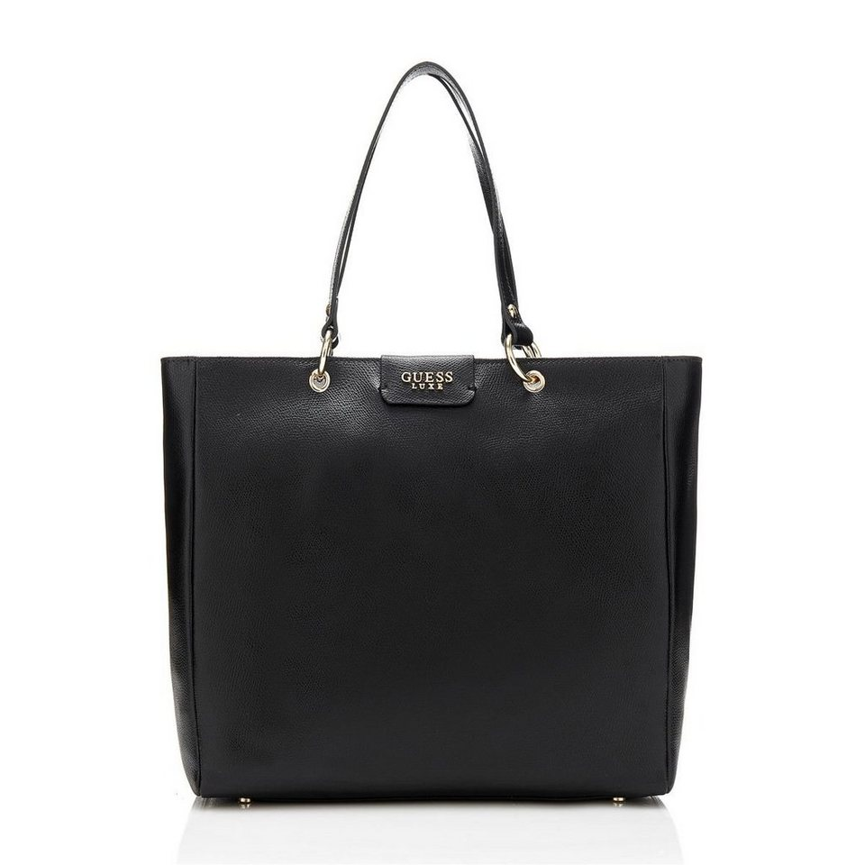 Guess Handtasche Carla aus Leder in Schwarz