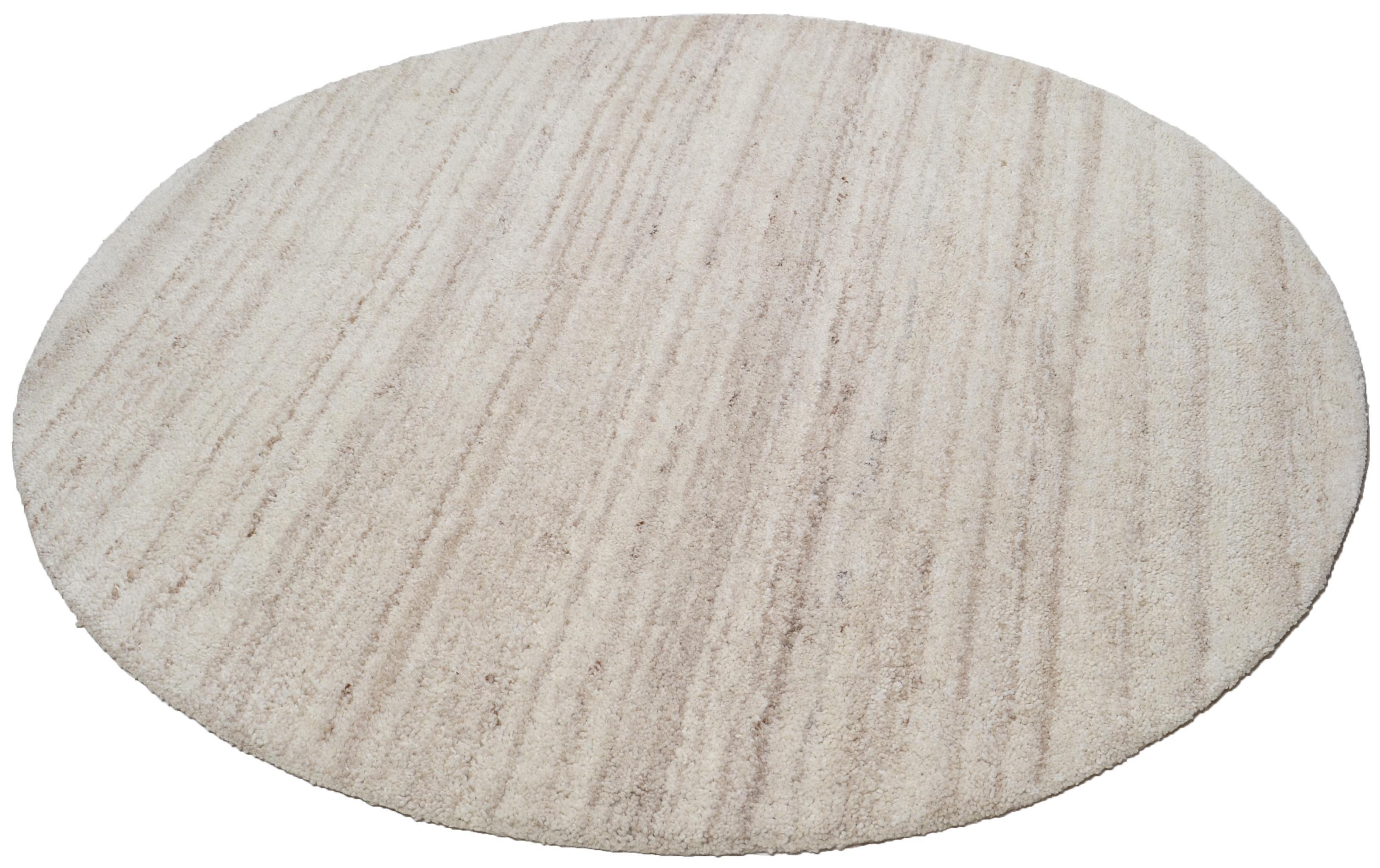 Teppich »Royal Berber Uni«, Theko, rund, Höhe 18 mm