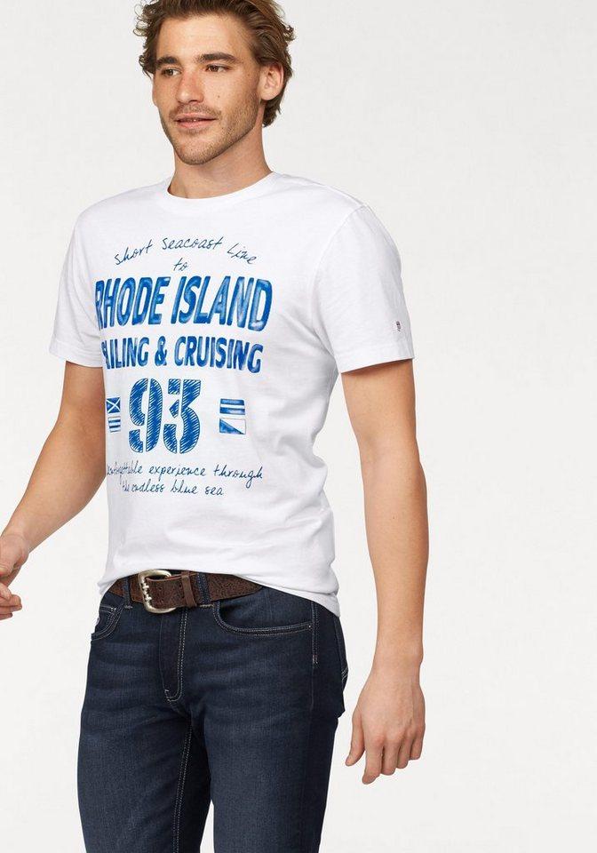 Rhode Island T-Shirt Logo Tee in weiß