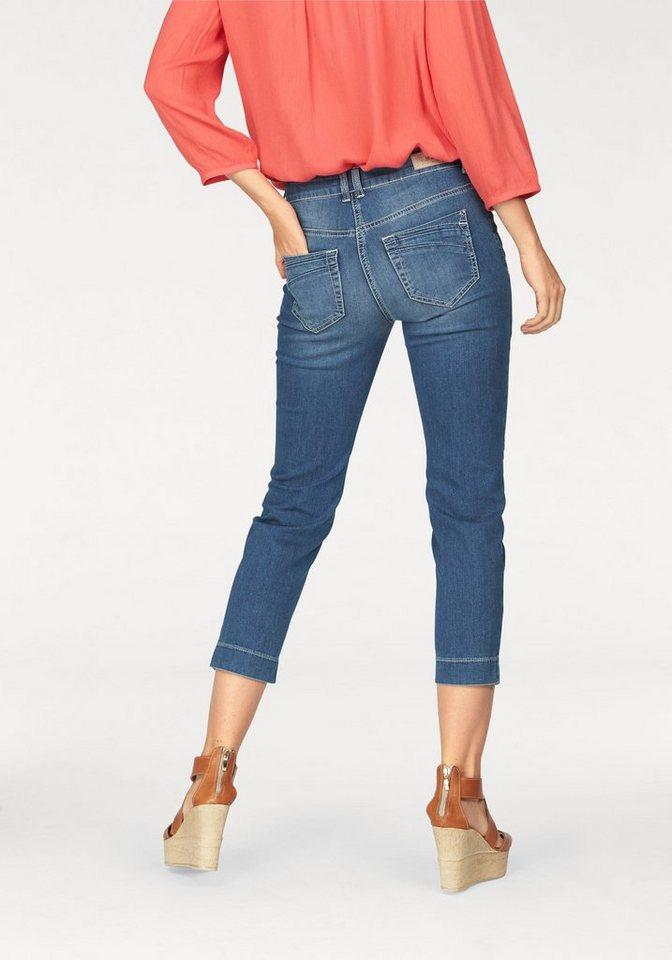 MAC 7/8-Jeans »Angela Pipe Fresh« 7/8-Form in stone washed